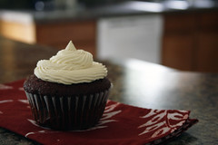 red velvet cupcake (the boastful baker) Tags: food cooking cake dessert cupcakes baking treats cupcake sweets frosting redvelvet buttercream