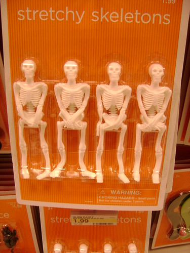 modest skeletons- trying to hide their bone?
