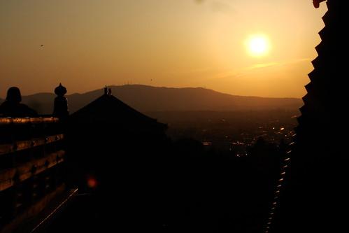 Nara sunset @ Nigatsu-dō