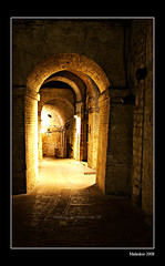 Scene from the Underground (Malaskor) Tags: street italien italy pope paul italia arch state strasse guelph tunnel vault fortress perugia rocca umbria bogen festung papal paolina gewölbe umbrien 1543 1540 guelf