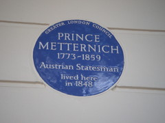 Photo of Clement Metternich blue plaque