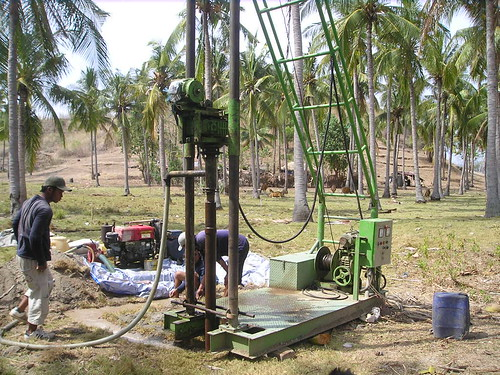 bore hole for well