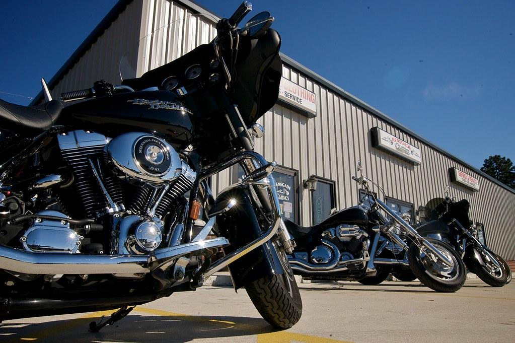 Frontage2 (Renegade Classics Savannah) Tags: Bike Honda Lights Clothing  Parts Victory Harley Gloves