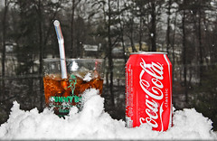 Shall I Compare Thee to a Summer's Day? (kuyman) Tags: red snow storm cup nikon aluminum funny cola awesome flash straw coke can pile bone cocacola coca fill bendy snowbank kuyler kuyman