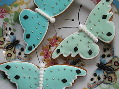 Butterfly Gingerbread Cookies (Pinks & Needles (used to be Gigi & Big Red)) Tags: pink flowers blue roses white black cute nature diamonds silver butterfly insect dessert gold golden three wings aqua cookie sweet feminine pastel painted gingerbread mint blues plate pale sugar explore eat sprinkles spices gift trendy fancy pastry present lacey treat trio anthropologie dots delicate rim cookiecutter 2008 favor edible antenna beaded luncheon frosting pinks dainty seafoam frosted decorated nutmeg week51 partyfavor royalicing gingerbreadcookie piped nonpariel gigiminor bakingjournal gigiandbigred gigibigred butterflycutter