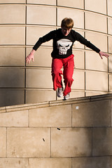 Street Runner (Surely Not) Tags: street square scotland nikon edinburgh running bristo d300 yourphototips