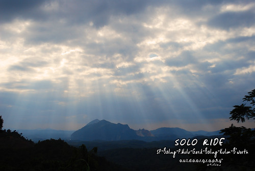 Solo Ride™ #3 : Ray of Light from Gunung Inas