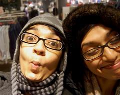 3Goofball twins! (fonseka) Tags: christmas smile sisters mall shopping glasses faces ro fifi rowena fionna fioni tuke roweenie