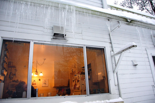 Icicles Hanging from Our Gutters