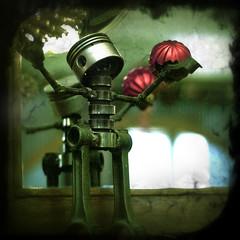 a merry robot xmas! (lonefrontranger) Tags: xmas robot crossprocessed textures photoshoppery digitalxpro fauxvintage faulxga