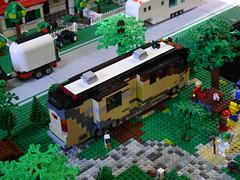 Motorhome on BayLUG layout (Bill Ward's Brickpile) Tags: camping lego vehicle rv campground motorhome fleetwood