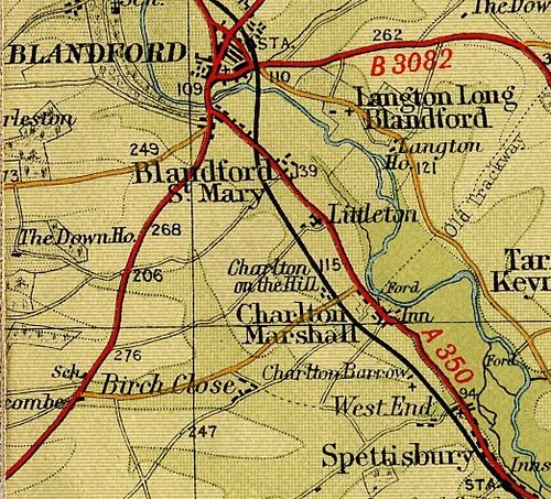 fragment of map, Blandford cropped