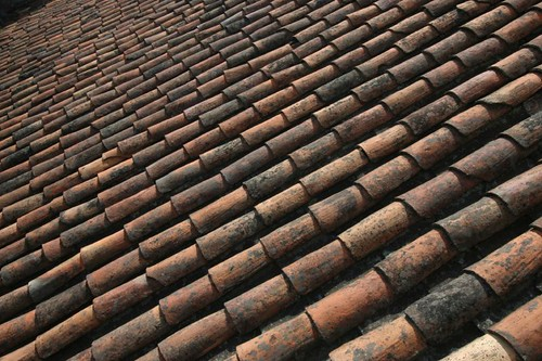 Adobe roof top, Cuenca.