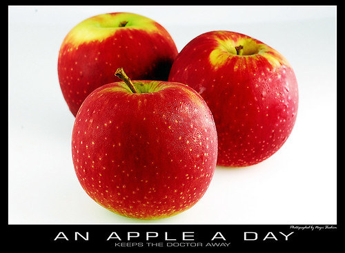 An apple a day ...