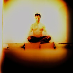 male 120 6x6 film analog mediumformat square lomo xpro lomography kodak muscular buddha crossprocess toycamera slide martialarts plastic diana zen weapon kungfu sword warrior dianaf e100vs weapons 120mm kwandao