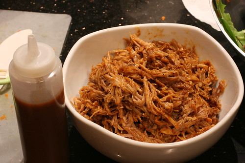 pulled pork with BBQ sauce 2
