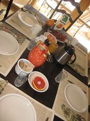 another way of looking at it (kittiegeiss) Tags: santafe coffee breakfast bacon toast grapefruit orangejuice scrambledeggs thediningarea ilostcount myparents19th20thhouse littlecrystalglasses beanswhichifindhardtoeatatbreakfasttime waterinaspecialpitchertheyhadmadeinitaly