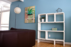 umbo shelf (yodraws) Tags: vintage retro bluewall inmyhouse umbo joecolombo whitemodularshelves