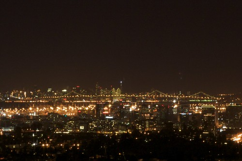 Overlooking the Bay from the Oakland Hills (Mormon Temple)