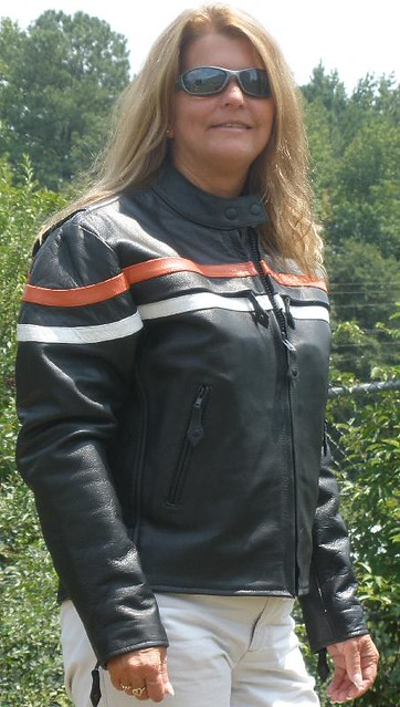 6120_Orange_white_women_racing_jacket by Dynamicleather-US
