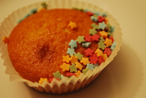 cupcake w stars