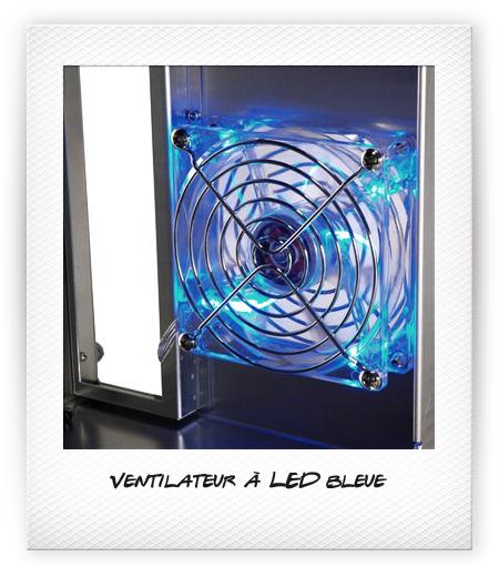 Ventilateur à LED bleue
