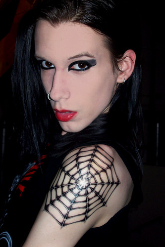 Newest photo →; Darknight Witch - Spiderweb Tattoo