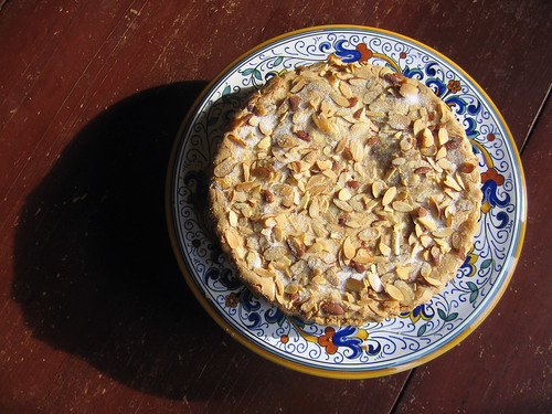 almond tart, from above