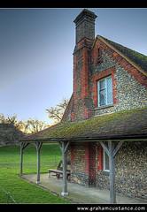 Berkhamsted Castle Lodge (gracust) Tags: building castle stone architecture cottage historic lodge berkhamsted soe hdr hertfordshire blueribbonwinner otw abigfave goldstaraward rubyphotographer berkhamstedcastlelodge