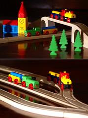 Riding the Rails (Gilmoth) Tags: toys trains utata rails treno 2009 trenino ferrovia giocattoli miniaturerailway sonyalpha100 sigmaef530dgsuper minoltaamount utata:project=taketwo18 taketwo18 minolta28105xi