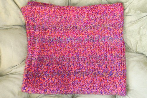 Knit Homespun Baby Blanket 5