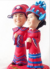 Chinese ancient costume Wedding 4 (clay figurines) Tags: wedding cake toppers
