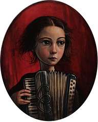 """Tune"" (verpabunny) Tags: original painting acrylic accordion tune kellyvivanco"