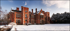 Heslington Hall (itspaulkelly) Tags: york winter panorama snow cold campus yorkshire snowing universityofyork northyorkshire yorkuniversity ptgui heslingtonhall heslington