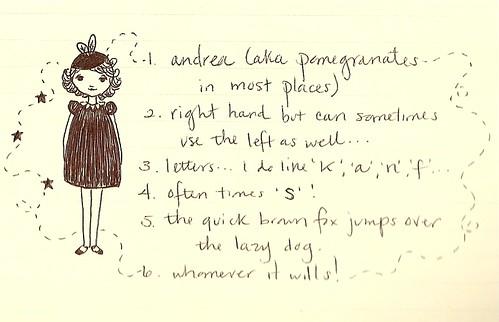 handwriting...