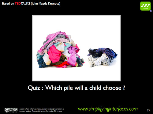 Simplicity - Which pile will a child choose