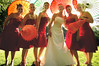 red dress red wedding dress red bridesmaid style photo