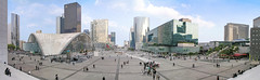 La Défense - panorama from the steps of the Grande Arche (Romeodesign) Tags: sunset panorama paris france building architecture modern business defense ladéfense grandearche arche worldwidepanorama
