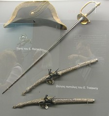 Sword of E. Reineck and pistols of E. Trelawny. National Historical Museum, Athens, Greece