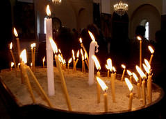 Church - Candles (Sam S. World) Tags: world light church dark photo amazing candles fuji image pic armenianchurch 24april nkar