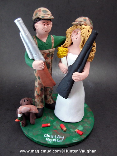 Duck Hunting Bride Wedding Cake Topper share