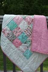 Blush Backing (Amypeach1978) Tags: pink flowers blue baby hearts aqua moda blush charmpack florascrap