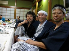 "with dear friends U-Zhaan & Taro Terahara (@ post concert party & onsen, Niigata Japan - November 2007) • <a style=""font-size:0.8em;"" href=""http://www.flickr.com/photos/35985863@N07/5816912743/"" target=""_blank"">View on Flickr</a>"