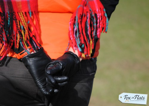 leather gloves at footy