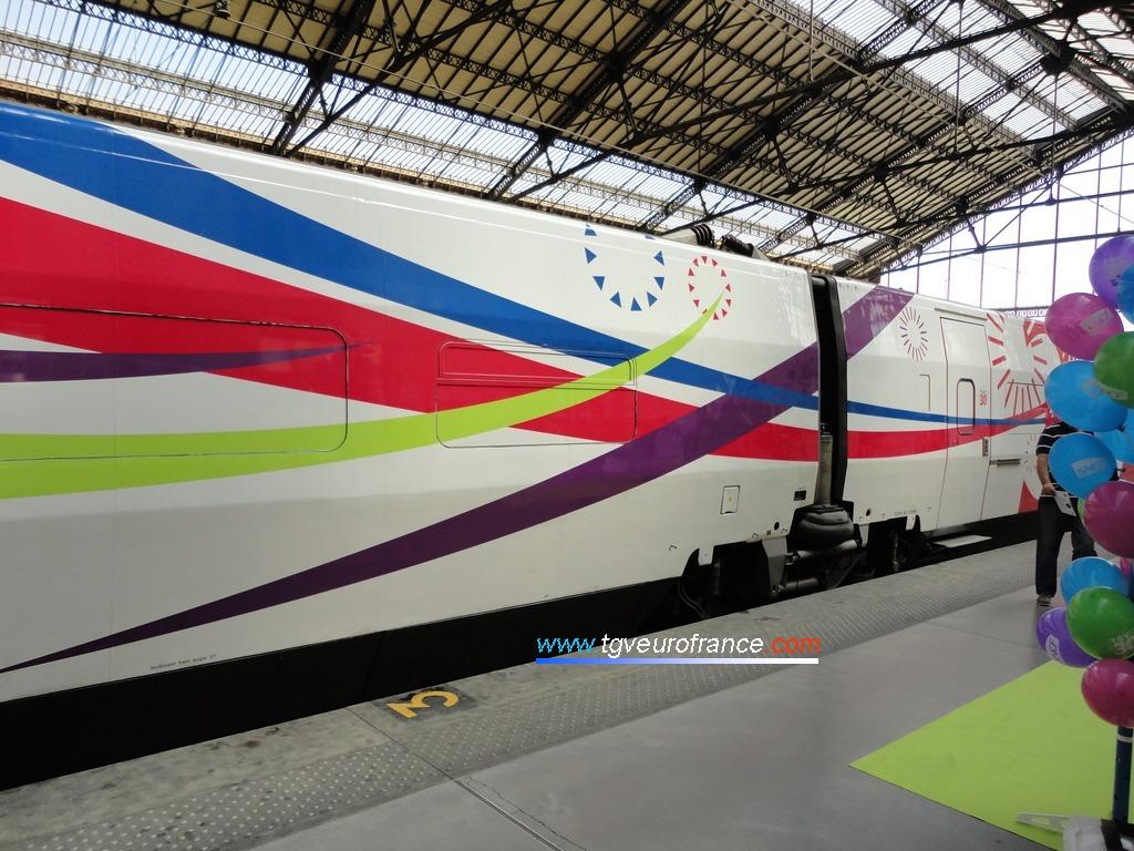 Pelliculage événementiel de la rame TGV Expérience
