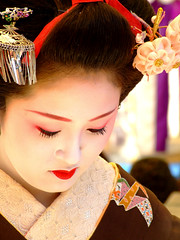Baikasai () - Ichimame (ericlty) Tags: japan kyoto maiko geiko  teaceremony  ocha baikasai kitanotenmangushrine  kamishichiken   plumblossomfestival ichimame