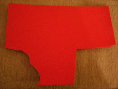 self-adhesive red foam