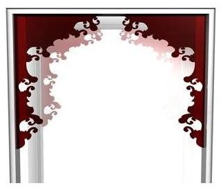 Indoorframe Blume Rot Detalhe
