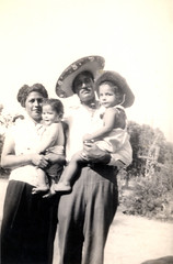 """Tula and Aristeo with nephew and niece 1940s ((Concepts by) Nicholas Daniel """"@tak"""" Lopez) Tags: california old family workers nebraska texas martin grandmother photos antique group grandfather historic collection aristeo"""