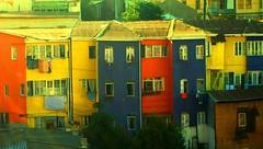 Barrio Porteo (( Vicenta )) Tags: chile blue windows red sky house color home yellow azul puerto valparaiso casa rojo ventanas amarillo cerro cielo casas barrio cerrobellavista